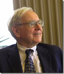 Warren Buffett speaking to a group of students from the Kansas University School of Business - Work of Mark Hirschey