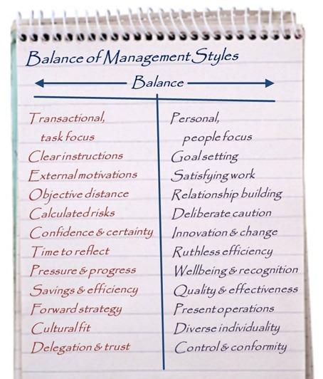 Balance of Management Styles