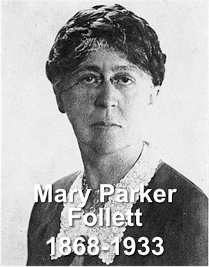 mary parker follet s concept of integration One of the key aspects of mary parker follett's approach was the 'circular' theory of power she initially developed in creative experience (1924) power begins with the organization of reflex arcs.