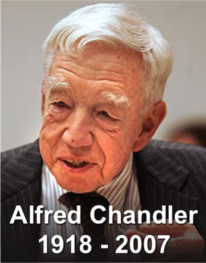 alfred chandler thesis Reference: chandler, alfred d strategy and structure: chapters in the history of the industrial enterprises the mit press, cambridge, mass, 1962.
