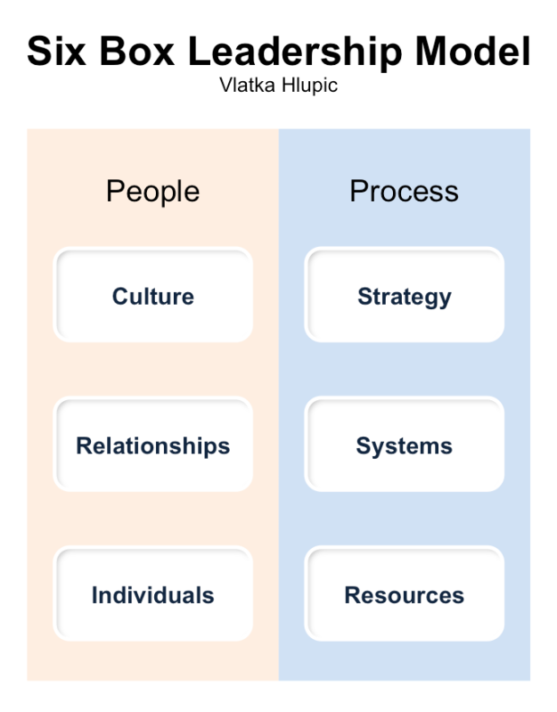 Vlatka Hlupic - 6 Box Leadership Model